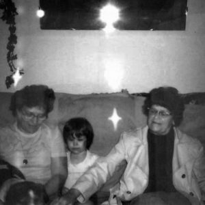 My great grandmother is on the right. That's me in the middle. Charlotte